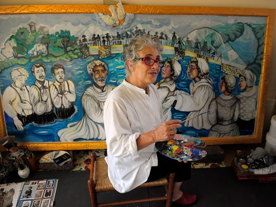 """Art professor Bernice Davidson is using her Heroes Project to tell the story of Pulaski's unsung local figures. """"I want this to be a place where we collect the heroes,"""" Davidson said. """"We will change it from what everybody thinks of Pulaski."""""""