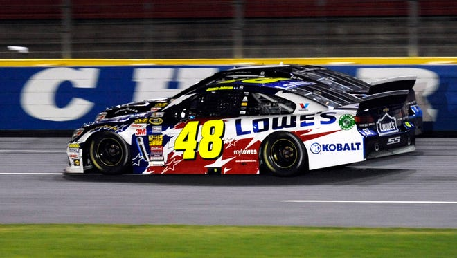 Jimmie Johnson will start on the pole in NASCAR's longest race for the third time.
