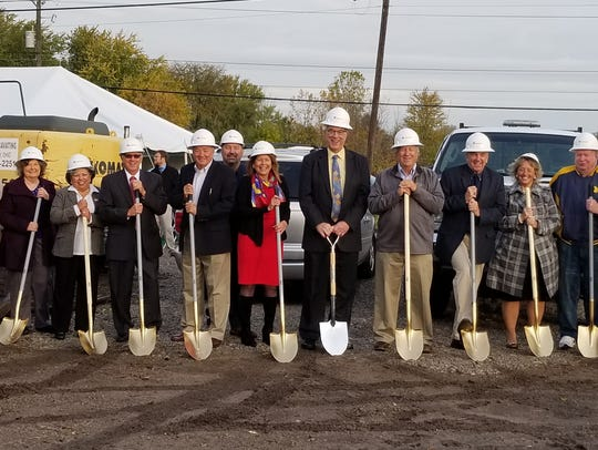 Groundbreaking for Fremont Federal Credit Union's new facility in Port Clinton was held Thursday.