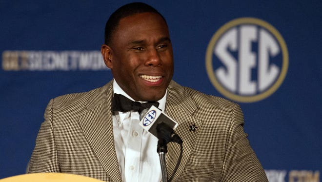 """I'm not going to be pressed into naming a quarterback,"" Vanderbilt coach Derek Mason said at SEC Media Days on Monday."