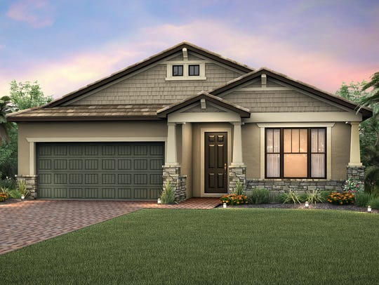 The Summerwood model by Pulte Homes at Corkscrew Shores.