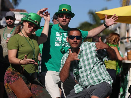 The annual  St. Patrick's Day Block Party returns to downtown Fort Myers on Sunday, March 17.