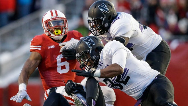 Wisconsin's Corey Clement hopes to find running room against Northwestern on Saturday.