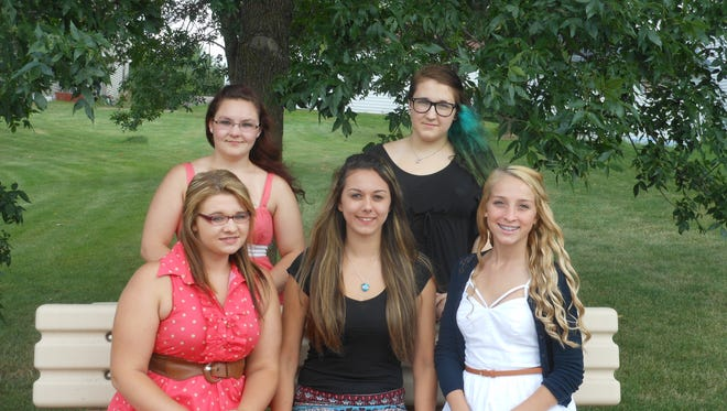 Five young ladies are vying for the title of 2015-16 Granton Fall Festival Queen. The interview process is complete and the queen, along with two attendants, will be crowned at 7 p.m. Friday, Sept. 11 at the Granton Fire Station. This year's candidates are Angela Kowal, from left, Haven Tennant, Cassie Bandt, Montana Elmhorst and Jill Richmond. They will be crowned by the reigning queen Jessica Richmond and attendants Page Vandeberg and Dani Anding.