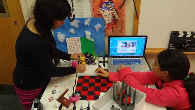 Learning Claymation at the Martin Luther King Jr. Center in Spring Valley during a free art after-school program for East Ramapo students that was provided by the Rockland Center for the Arts and supported by both public and private funding.