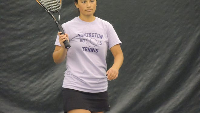 Lexington senior Maya Ahmed is one member of the sectional champion doubles team for Lexington.