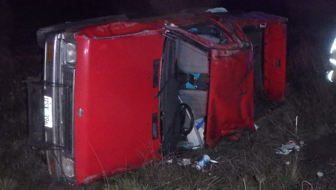This vehicle crashed Friday night on Highway 213 at milepost 18, according to Oregon State Police.