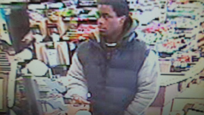 Police released this photo Wednesday of a man suspected of stealing a jar of donations to Riley Hospital for Children.