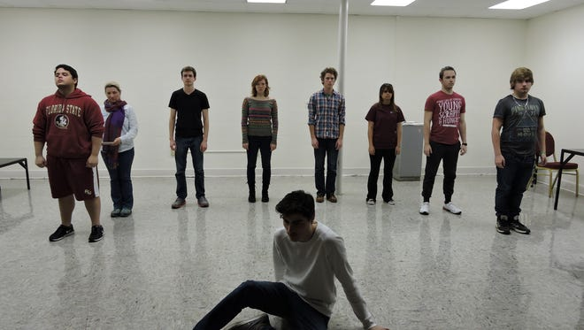 With two weeks until opening night, the student actors are rehearsing their delivery and staging to perfection.
