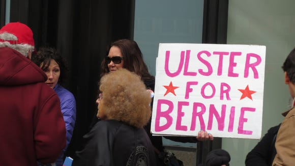 Supporter for Bernie Sanders delivered petition signatures at the Capitol on Thursday, Feb. 4, 2016