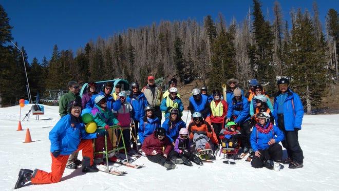 Participants in Ski Apache Adaptive Sport's (SAAS) annual Fun Race.