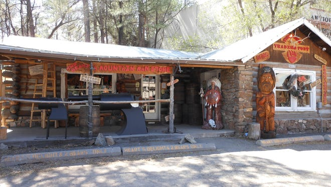 A group of four or five subjects broke a pair of decorative elk horns and then stole them from the Two Bears Trading Post.