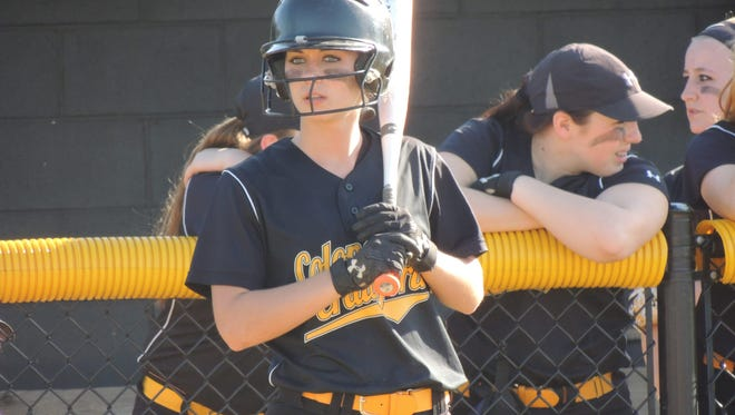 Colonel Crawford senior Jada Klingenberger smacked three hits, added two RBIs and stole a base in the Eagles' 4-2 win over Bucyrus on Friday evening at Chuck Huggins Field.