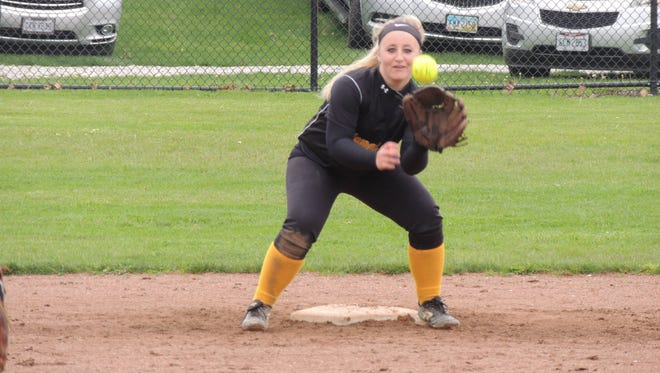 Colonel Crawford senior Lexi Hoepf delivered the only RBI in a 1-0 win over Upper Sandusky on Monday at Chuck Huggins Field.