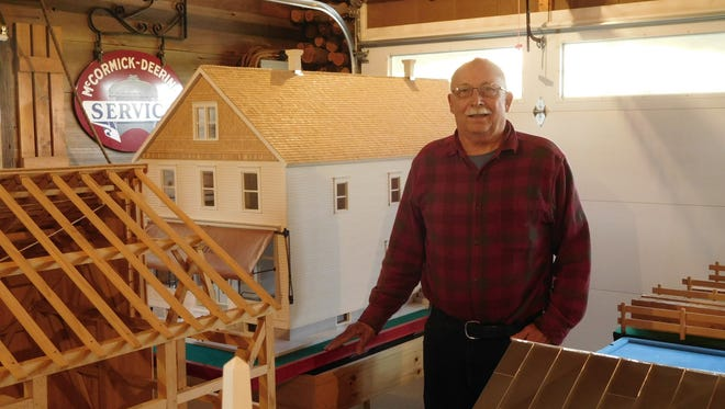 Newton historian and artisan Charlie Bauer will exhibit his scale replica models at the Local History Expo at the Wade House/Jung Carriage Museum May 21-22.