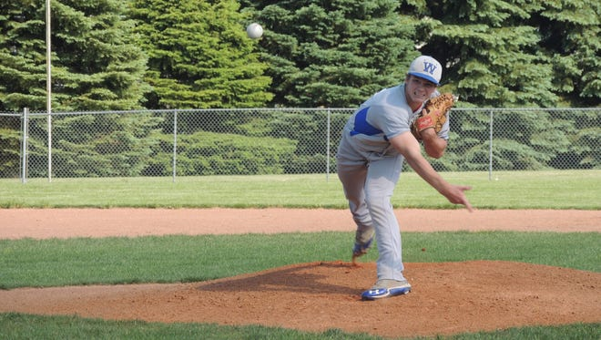 Wynford's Trey Stone is one of the many local pitchers who will be affected by the new pitch count regulations.