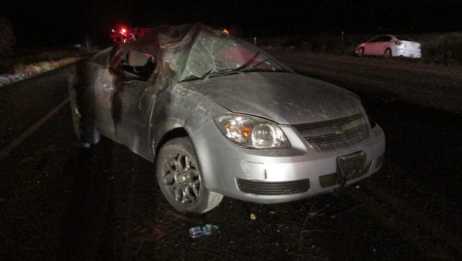 A Chevy Cobalt involved in a deadly car crash on state Route 18.
