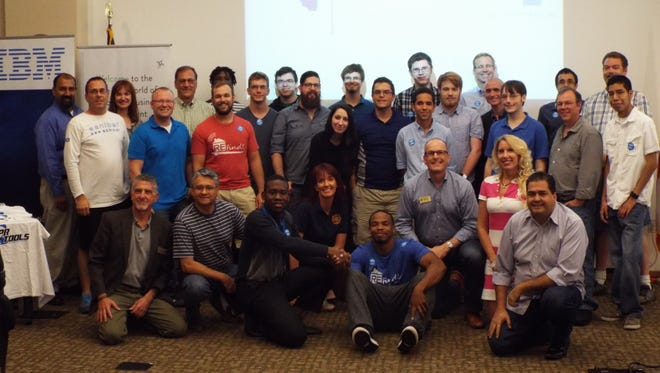This is a group shot from last year's hackathon, presented by the Southwest Florida Regional Technology Partnership.
