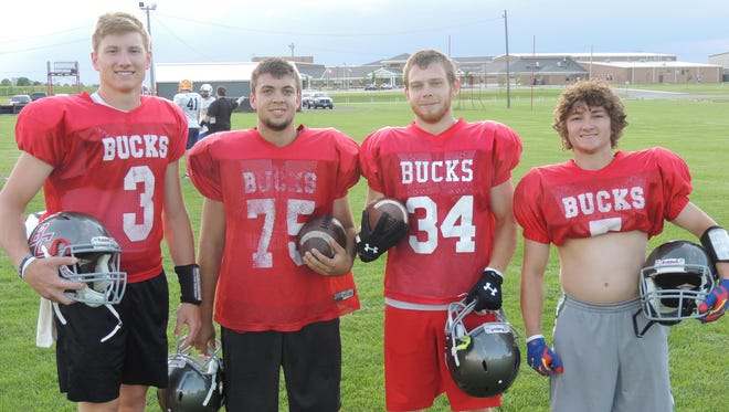Buckeye Central sends four players to the NCOFCA All- Star game on Saturday at Lexington High School. Pictured: Left to right: Grant Loy, Derek Kalb, Cody Roberts and Scott Heydinger