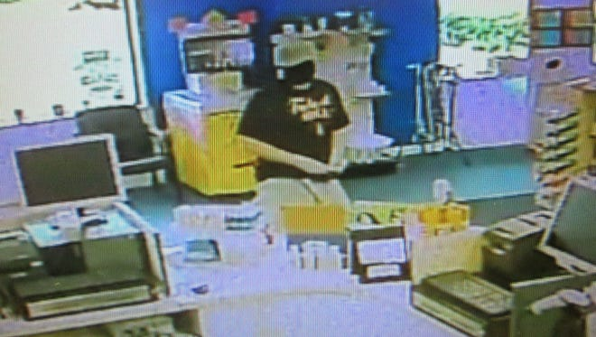 Barre City Police shared this image of a suspect in an armed robbery at The Medicine Shoppe in Barre on Aug. 16, 2016.