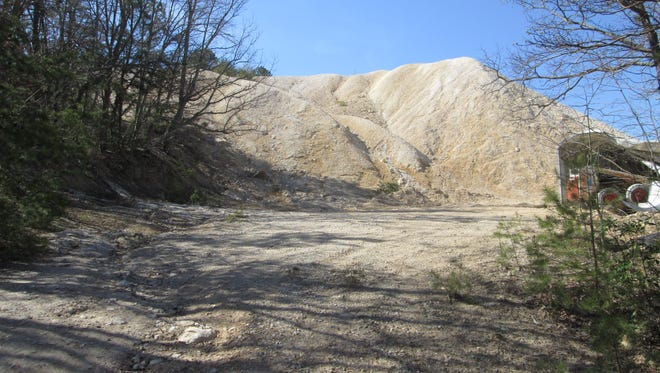 Koalin clay on the surface of the former Cold Spring Koalin Mine near Greenville. This clay is what the company Titan American wishes to use in its cement production.