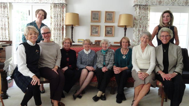 Clio Club members include, standing, from left, Mary Domes and Jennifer Hogan, and seated, from left, Marlene Dramm, Jane Pfeffer, Diane Rohrer, Karen Rotter, Janet Breuer, Barb Katz, Bernie Zimmer and Bev Hamann.