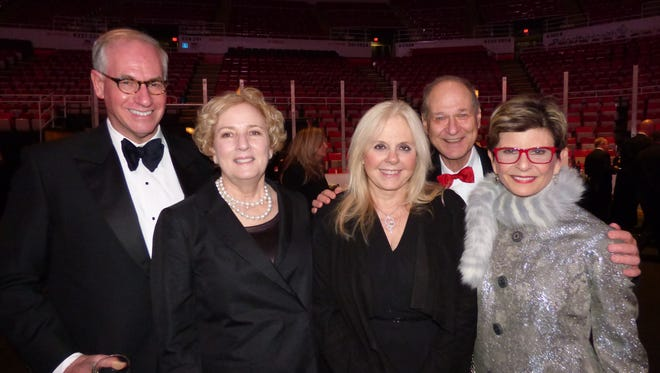 Detroit Historical Society vice president Jim Deutchman and his wife Cathy of Franklin; Charlene Handleman of Bloomfield Hills; and Dr. Lewis and DHS board member Leslye Rosenbaum of West Bloomfield.