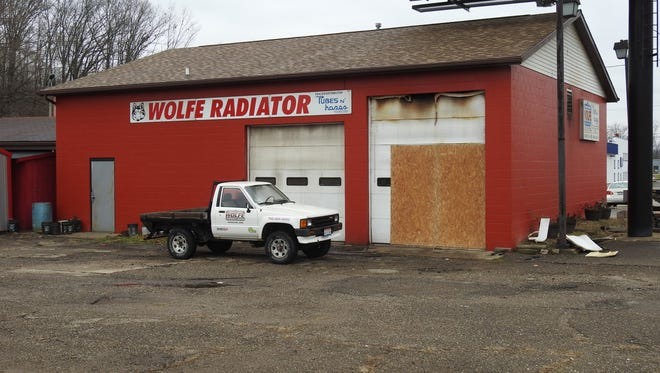 There were no reported injuries in a Friday evening fire at Wolfe Radiator Works.