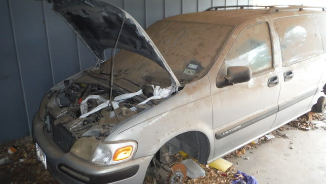 A junked car in Abilene.