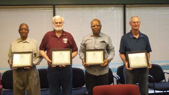 """Final round of """"Good Neighbor"""" recipients are William Adams (Country Club), Charles W. Shemwell (South Highlands), Arthur Davis (Country Club), Douglas Fenn (Cedar Creek), and Jimmie Phillips- not pictured- (Silver Pine Village)."""