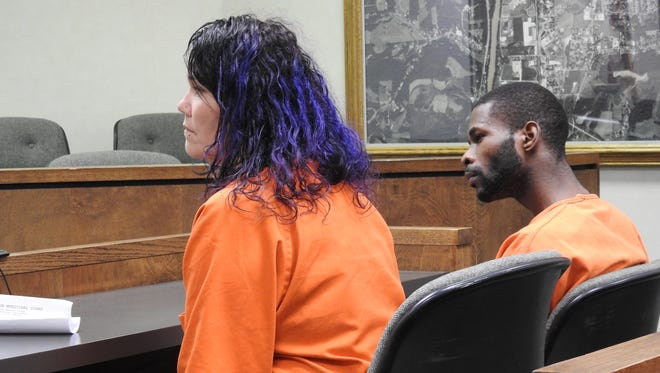 Tonya M. Blair and William W. Brown, of Coshocton, appeared in Municipal Court Monday afternoon on charges of aggravated trafficking in drugs in connection with a Friday morning raid on their Chestnut Street home.