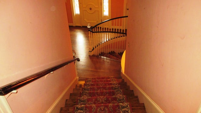 The staircase at 441 Drexel Drive.