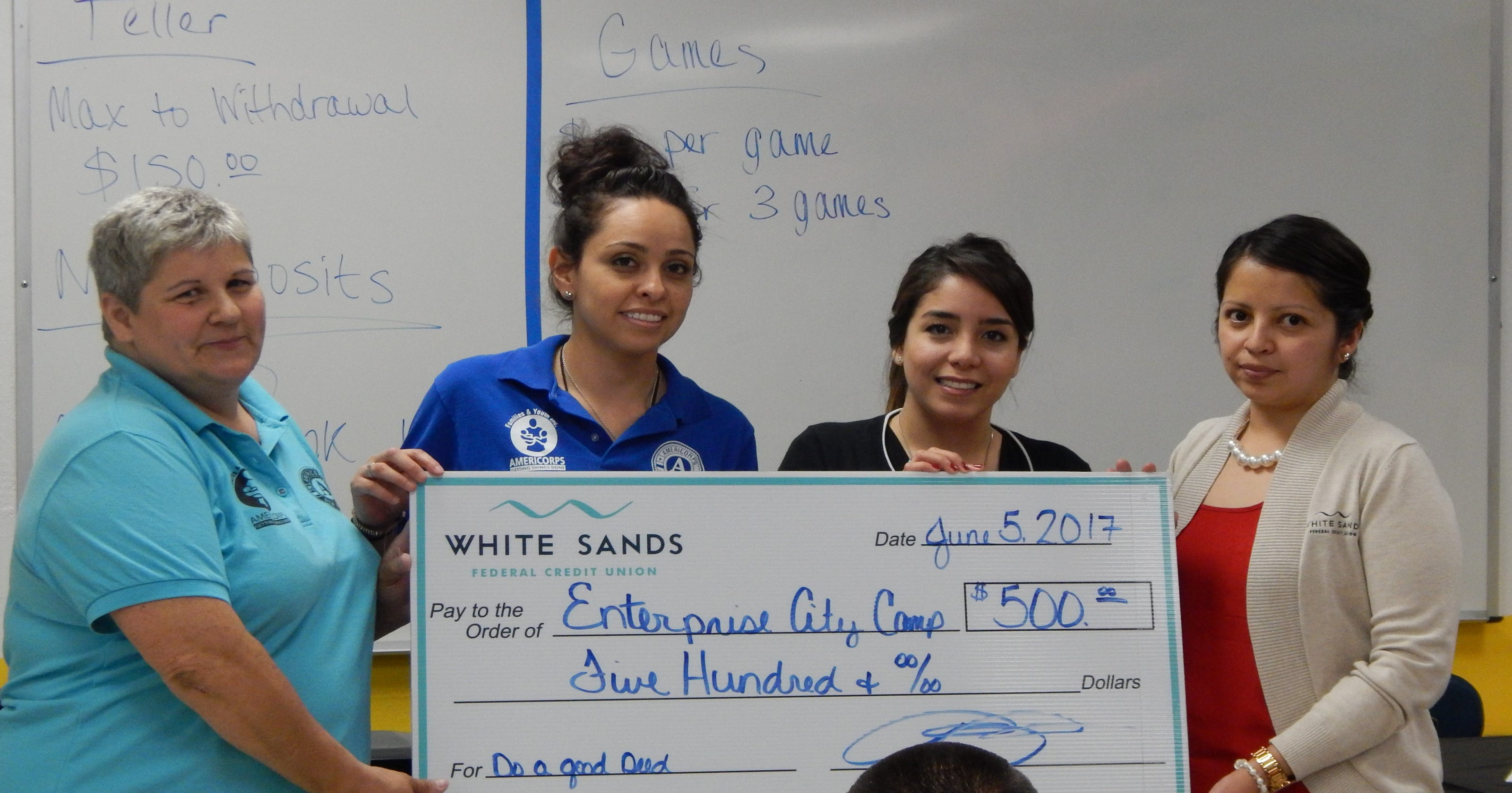White Sands Fcu Supporting Future Business Leaders