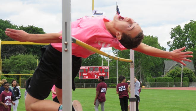 Setting the record in the high jump was 13-year-old Vincent Rizzi of Valley View School in Watchung with a height of 5 feet, 10 inches.