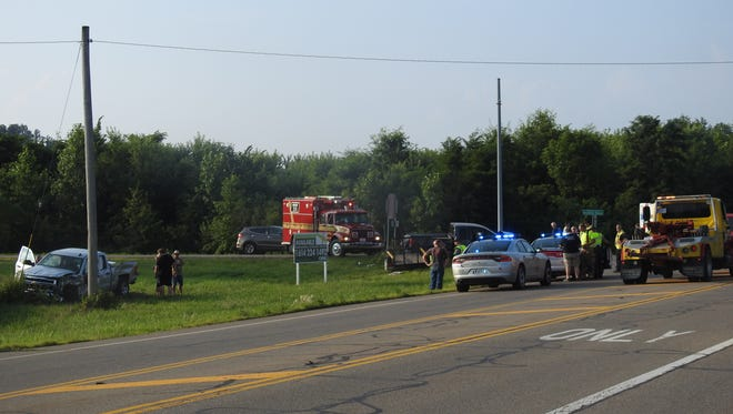 One person was killed and two were injured as a result of a crash at Ohio 60 and Raiders Road Friday evening.