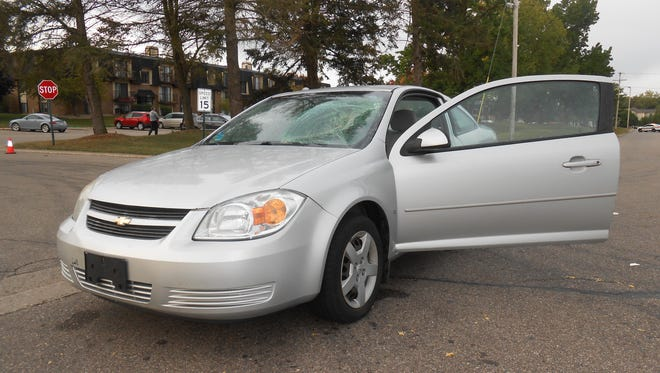 Calhoun County Sheriff Department deputies said a pedestrian was hit by this car early Thursday.