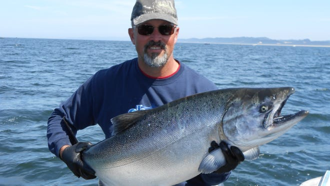 Fall chinook fishing will open on Oregon's south coast. Seen here is guide Damon Struble.