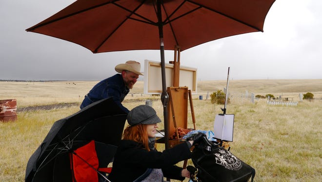 Jane and Dwight Cushman founded Sunday Painter in August as a way to get artists out of their studios and into the Montana landscape.