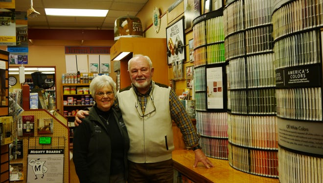 Janette and Ben Forsyth are retiring at the end of December after nearly 30 years of owning Forsyth Paint and Decorating.