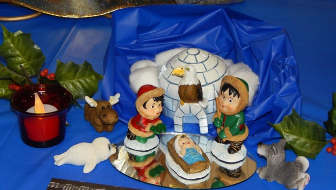 An Alaskan style nativity displayed at a previous Saint Jo event.