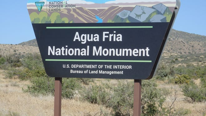 The Agua Fria National Monument is north of Phoenix along Interstate 17.