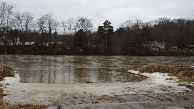 A view of the Muskingum River from Second Street boat ramp.