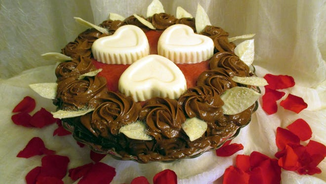 Treat your sweetie to a slice of Love Potion #14 from Goodie-licious Custom Baking.