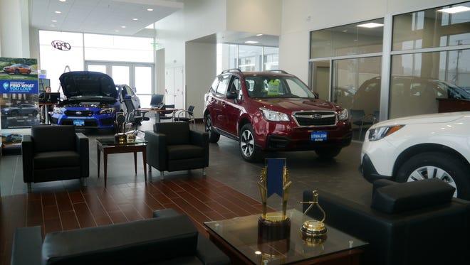 Lithia Subaru's showroom is designed for maximum customer comfort as well as energy efficiency.