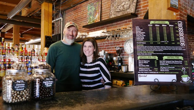 Crossroads Coffee owners Kyle and Genii Winter will open their new business March 9.