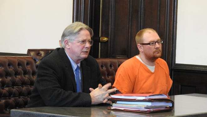 Attorney Jeff Kellogg represented Richard A. Huffman Monday in Coshocton County Common Pleas Court. Despite a joint recommendation of community control sanctions, Huffman received 17 months in prison on an arson charge.