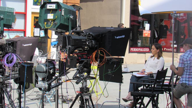 Hallie Jackson, MSNBC's chief White House correspondent, will be anchoring her morning show on the network this week from the Division Street pedestrian plaza in Somerville.