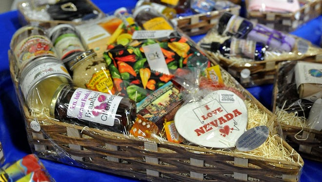 A basket sits at The Nevada Store booth at annual Made in Nevada Fall Marketplace in 2009.