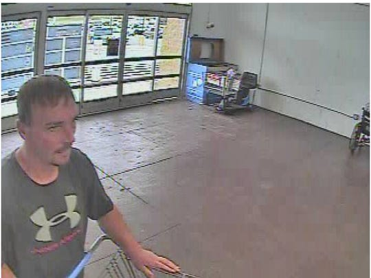Police are looking for information on a man suspected in a Hanover Walmart theft.