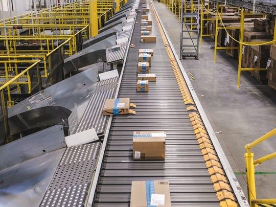 Amazon fulfillment center on Cyber Monday.